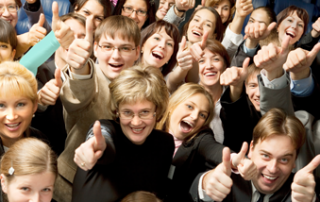 happy crowd of business people-business meeting memorable